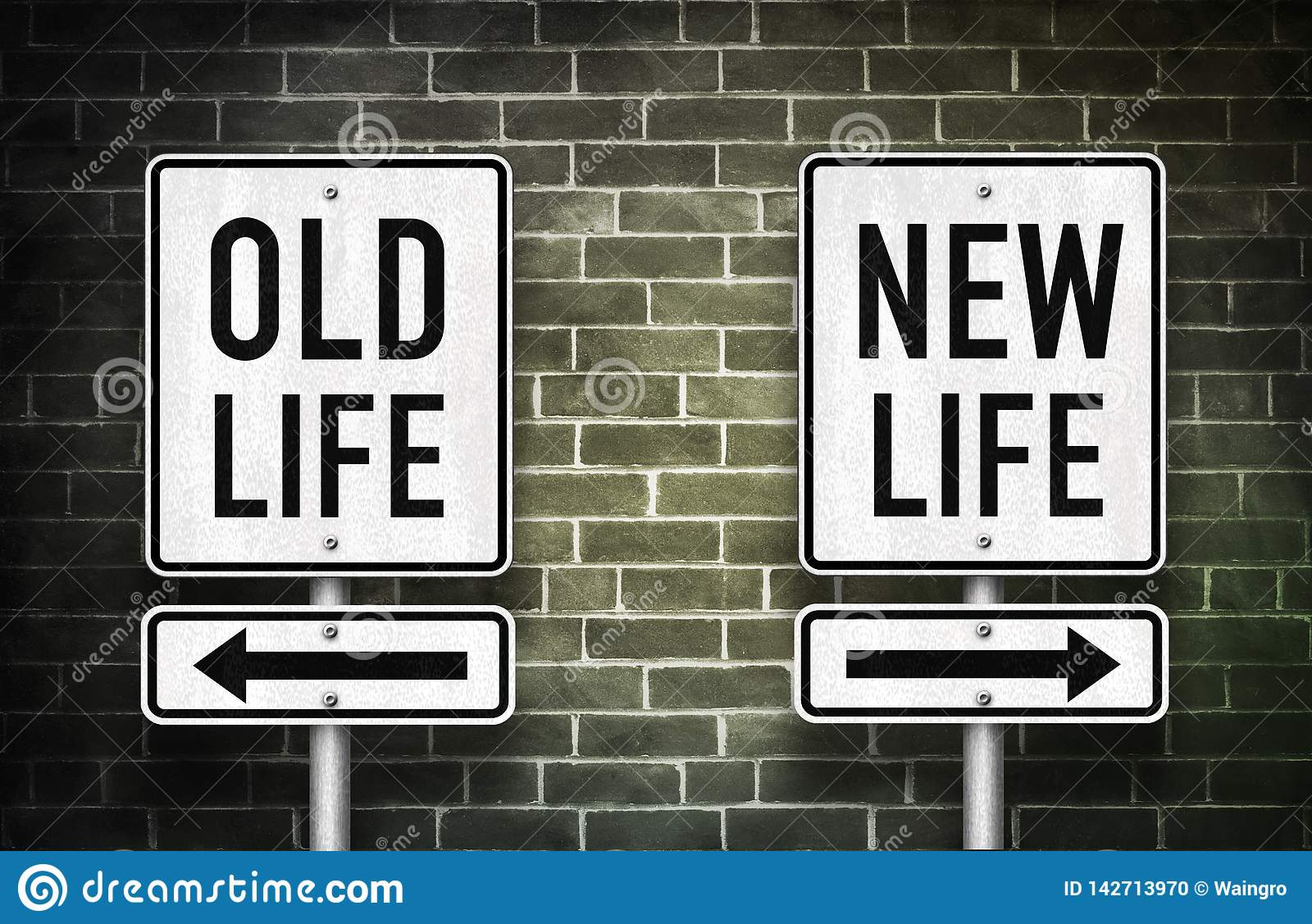 Old Life Versus New Life Stock Photo Image Of Motivation