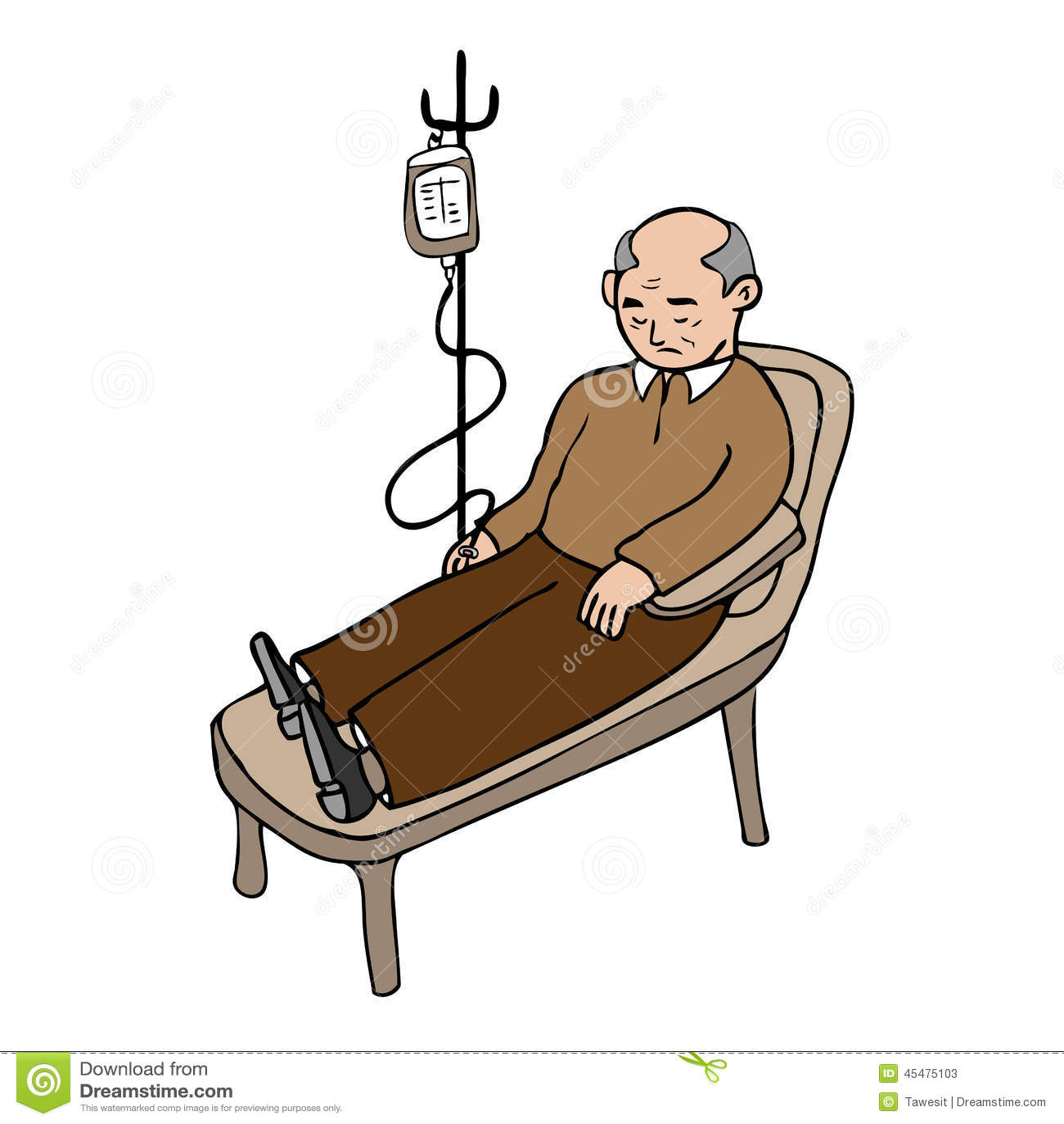 Old Man Bed Cartoons