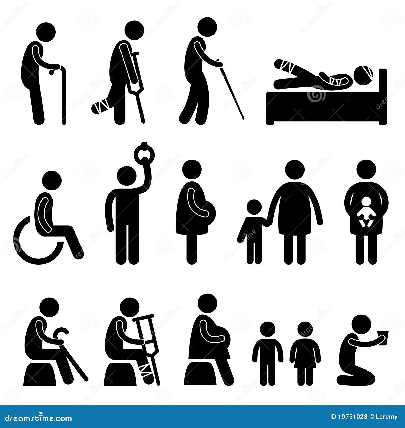 Old Man Patient Blind Disable Handicap Pregnant Royalty