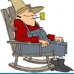 Folding Chair Gif Guy Gym Ball Australia Old Man In A Rocking Stock Illustration