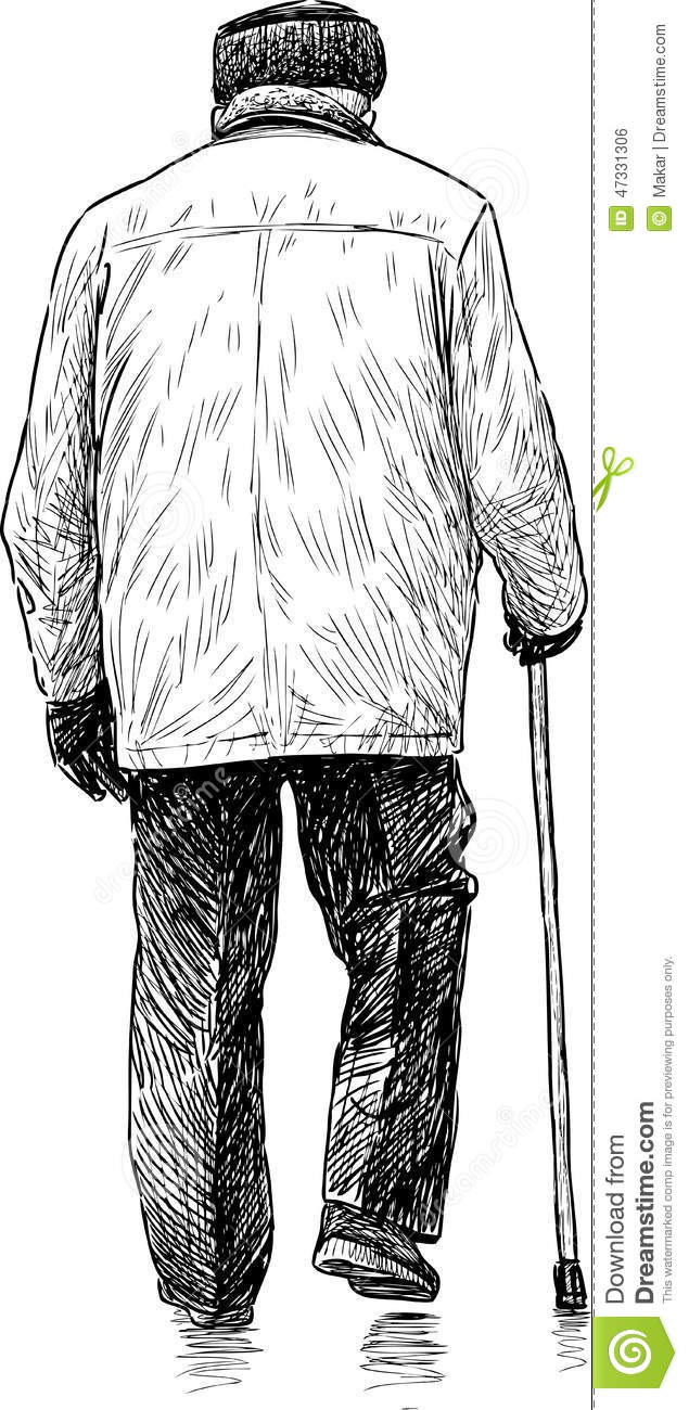 Old man on a walk stock photo. Image of senior, person