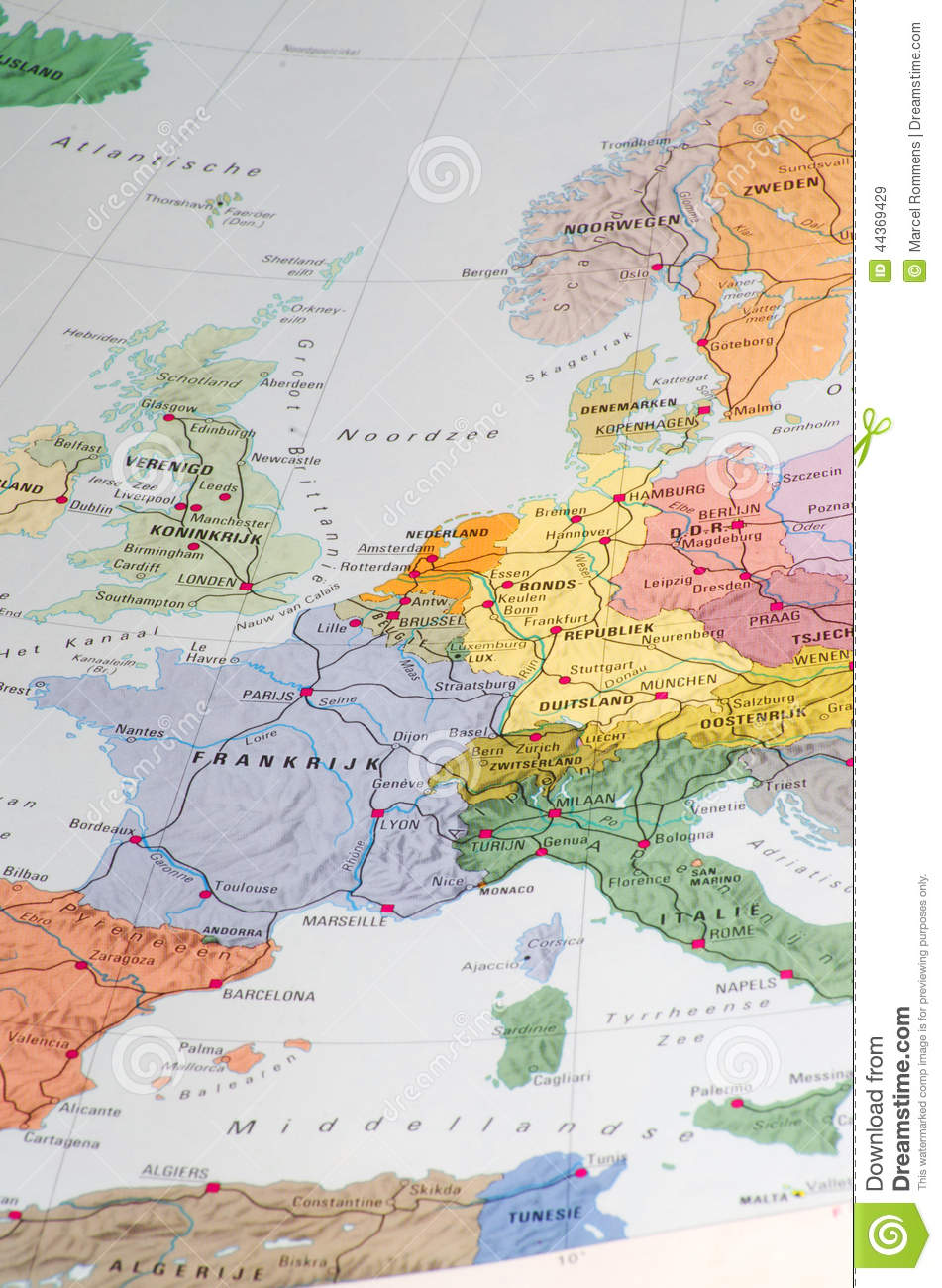 Old Map Of Western Europe Stock Image Image Of Austria 44369429