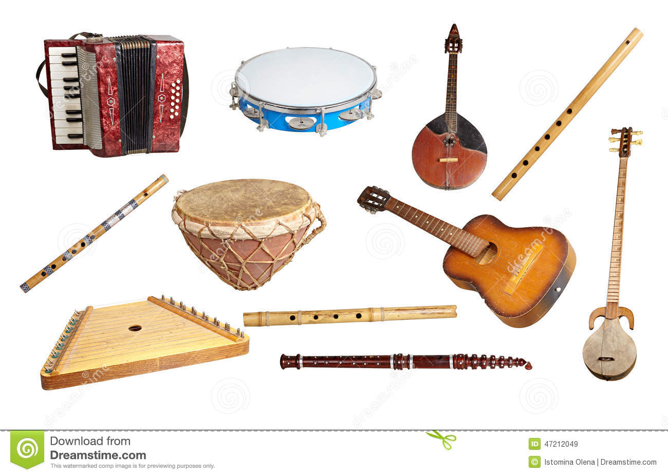 Old Musical Instruments Stock Image Image Of Indigenous