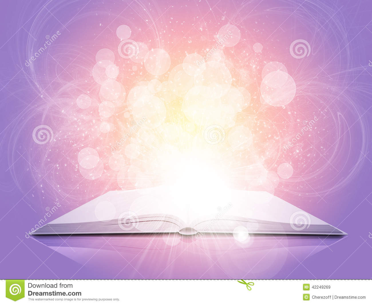 Wallpaper Falling Stars Old Open Book With Magic Light And Falling Stars Stock