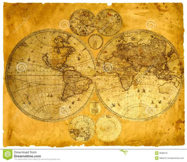 Old paper world map stock photo Image of geography east