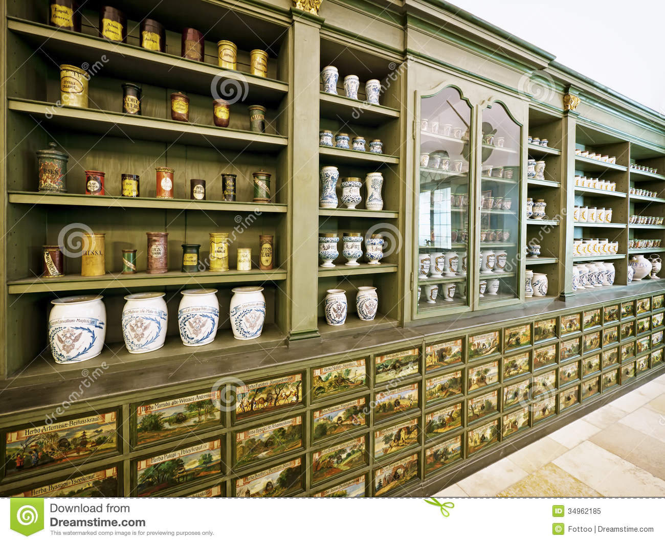 Old pharmacy stock image Image of past indoors medicine