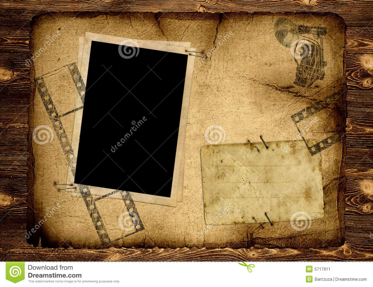 Old Photo Album Page Stock Image. Image Of Grimy, Formal