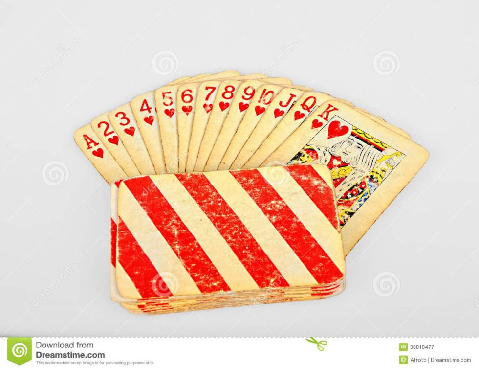Vintage Hearts Poker Card Cartoon Vector | CartoonDealer ...