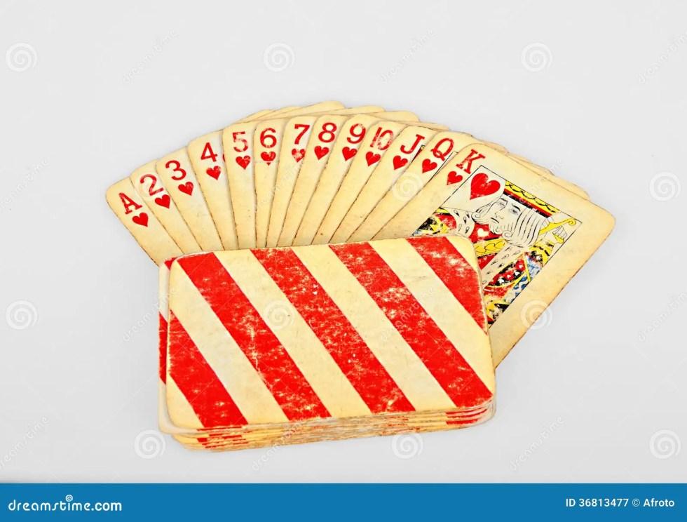 Vintage Hearts Poker Card Cartoon Vector | CartoonDealer ...