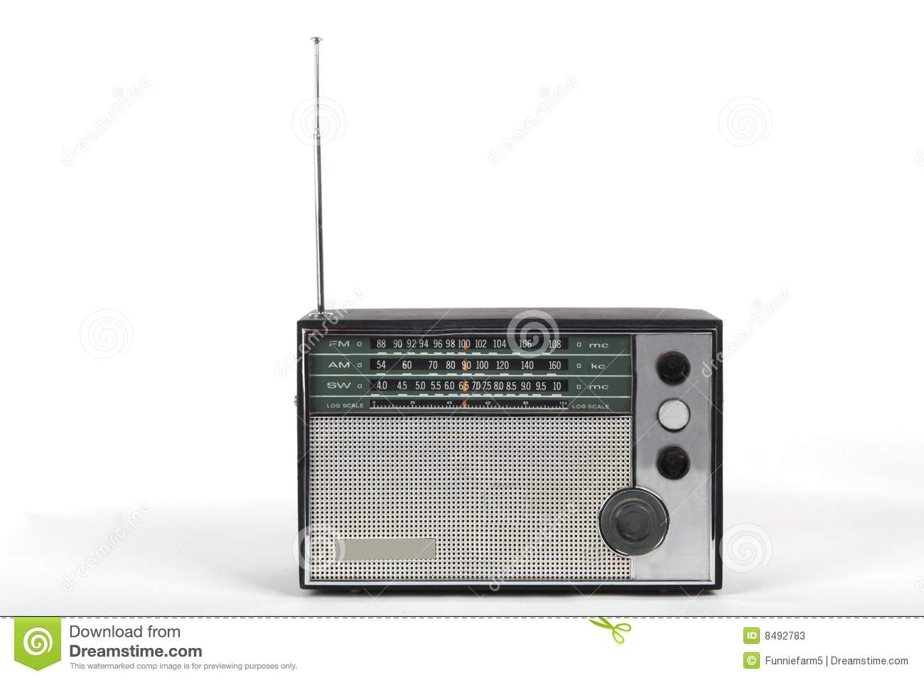 hight resolution of old portable radio