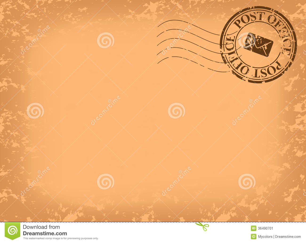 Old Postcard With Post Stamp Vector Stock Image Image