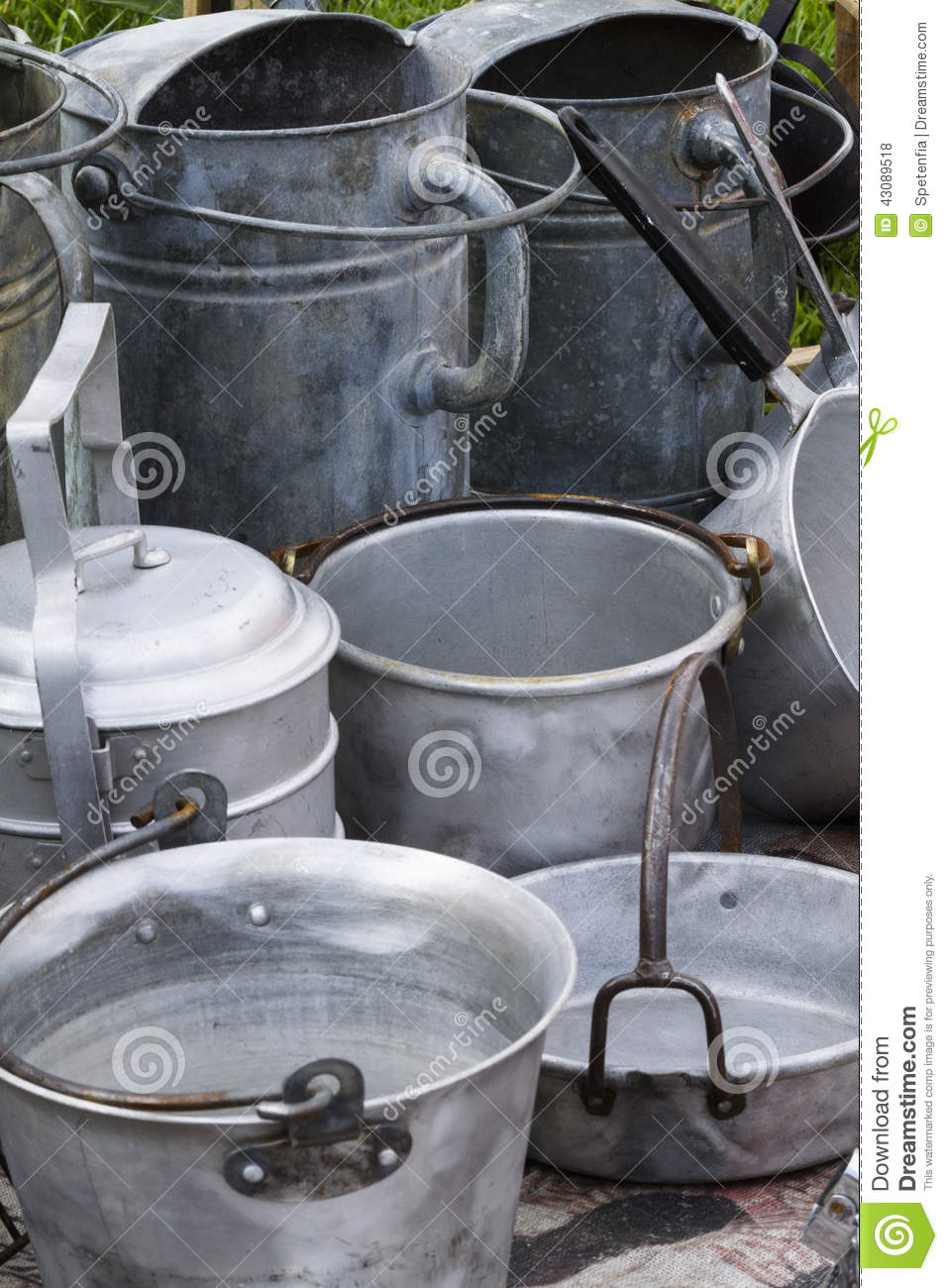 kitchen pots and pans ge appliance packages old stock photo. image of container, cooker ...