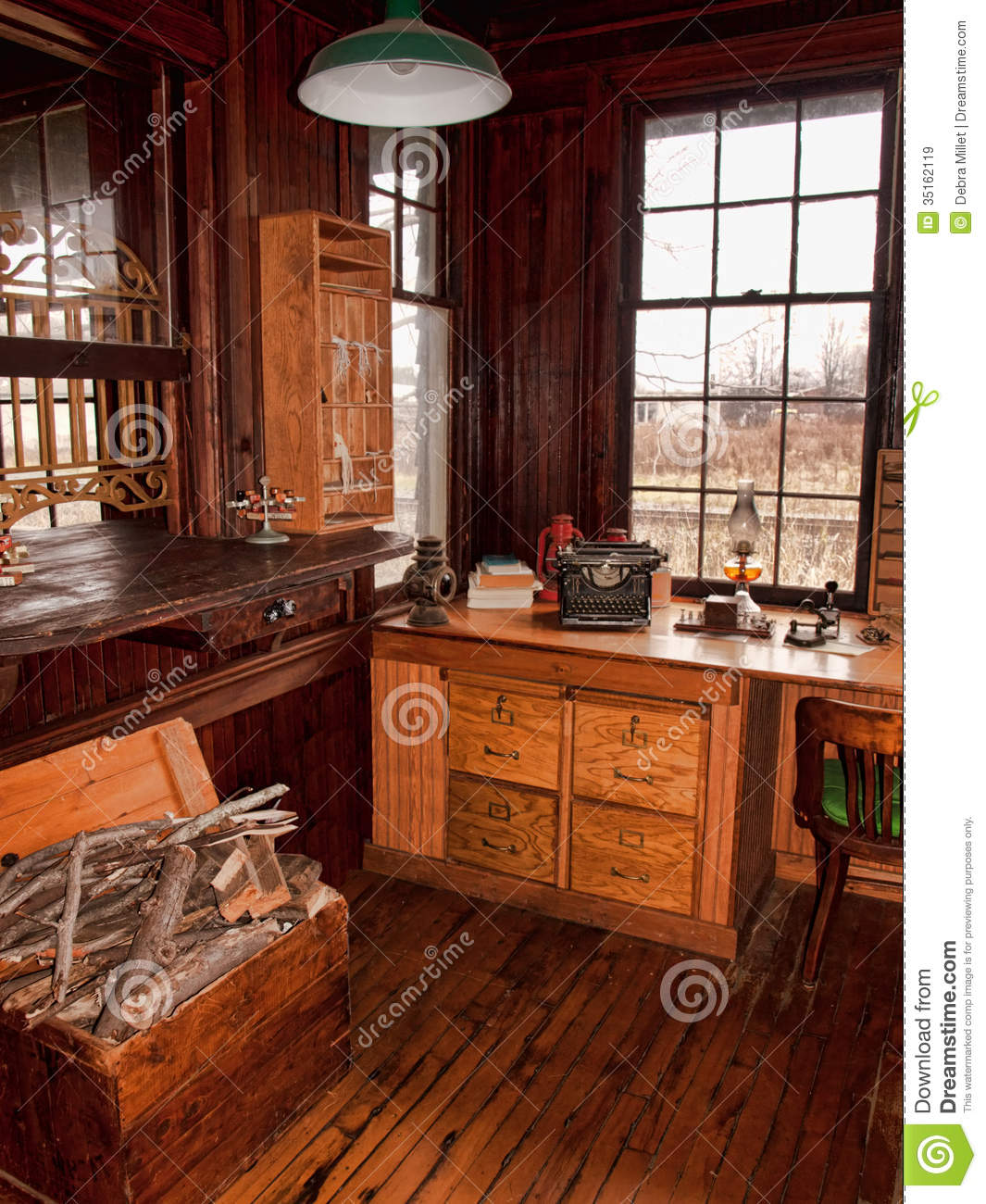 Old railway depot stock image Image of office desk