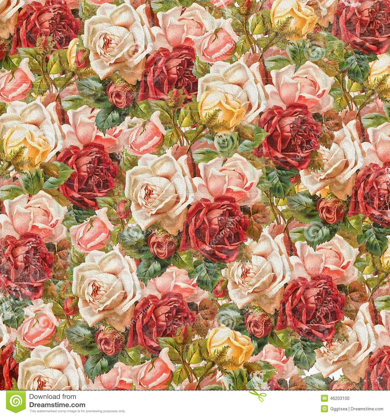 Old Decorative Background With Roses For Your Design