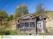 Ruined Wooden House Stock Of Abandoned
