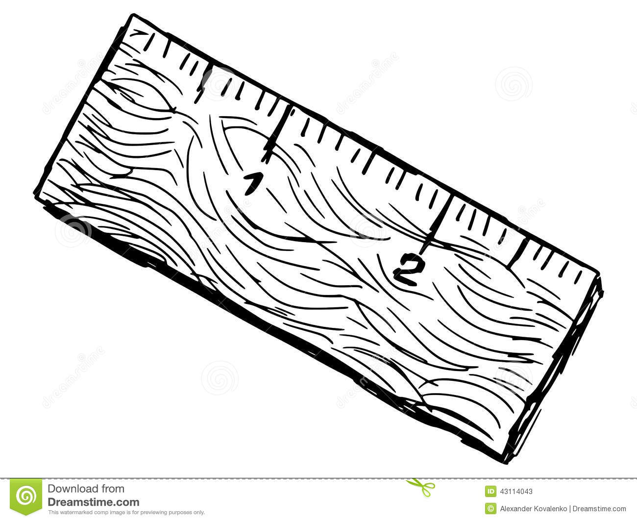 Old Ruler Stock Vector