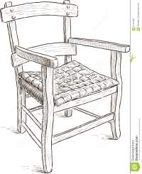 Old Rustic Chair Stock Vector - Image: 57137331