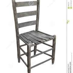White Ladder Back Chairs Office Cushion Old Rustic Wooden Chair Isolated Stock Photo Image
