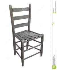 Old Rustic Wooden Chair Isolated. Stock Photo - Image ...