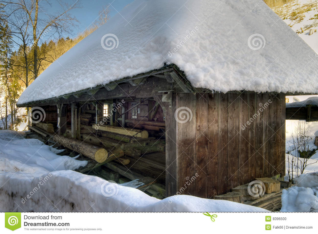 Old sawmill stock photo Image of sawmill tree house  8396500