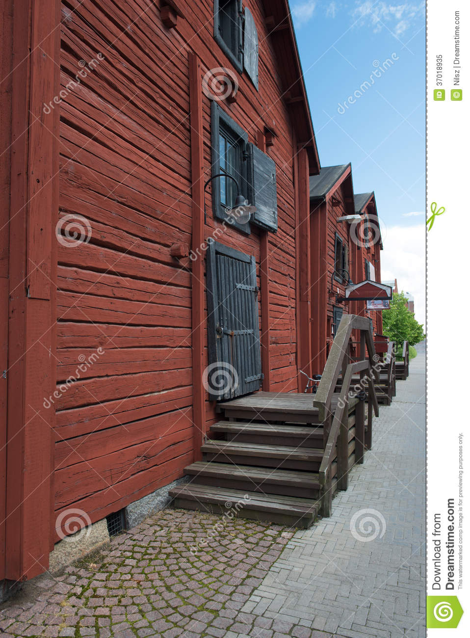 Old Scandinavian Wood Houses Royalty Free Stock Photo  Image 37018935