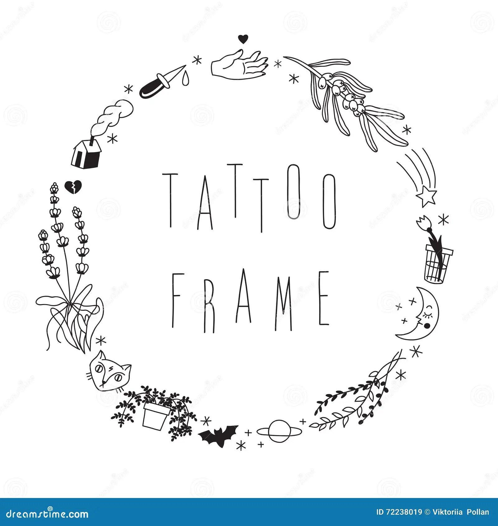 Vector Decorative Lavender Frame Cartoon Vector
