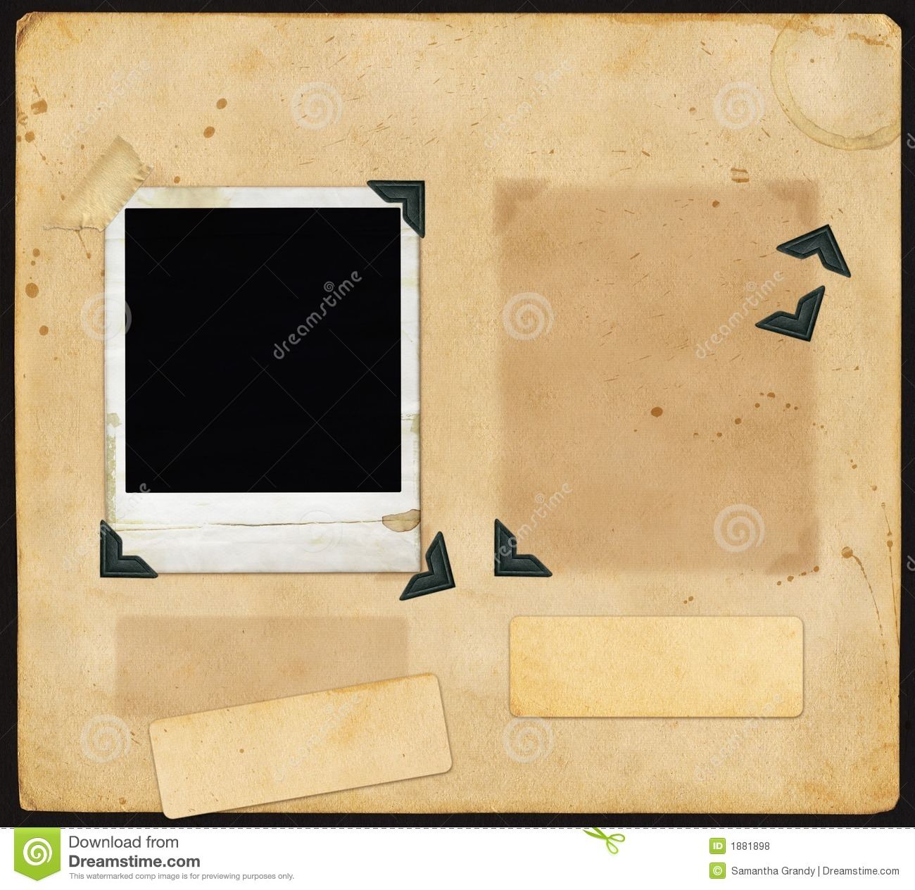 Old Scrapbook Page Royalty Free Stock Photos Image 1881898