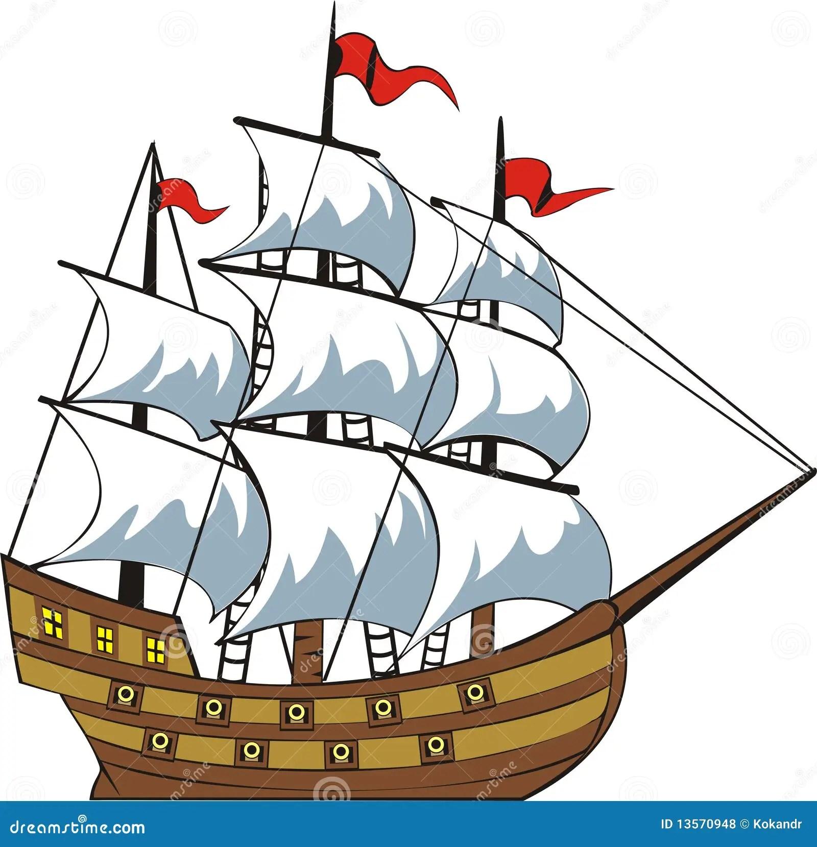 Old Ship Stock Vector Illustration Of Sailor Ocean