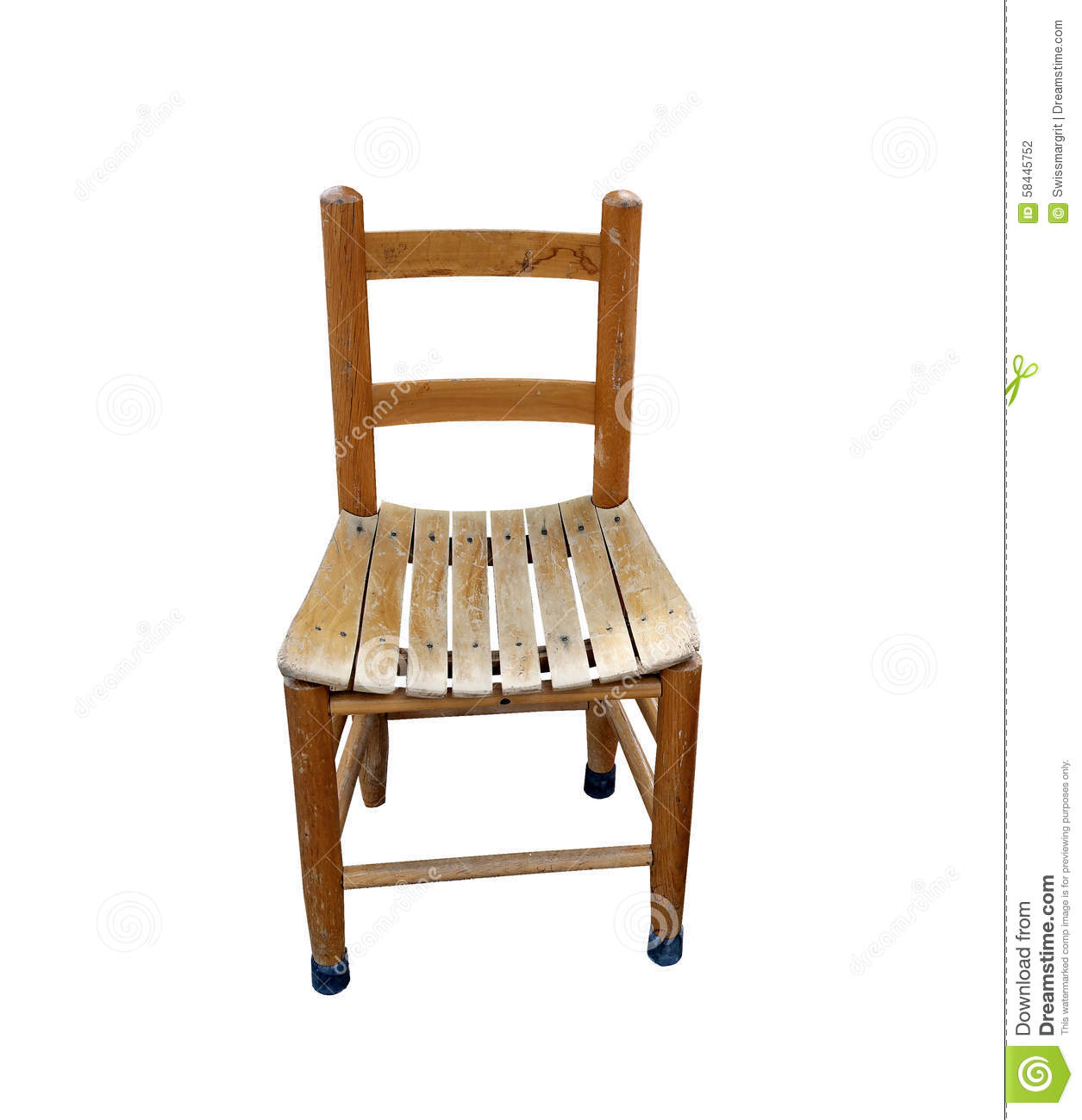 small wooden chair antique windsor chairs old for child stock photo image 58445752
