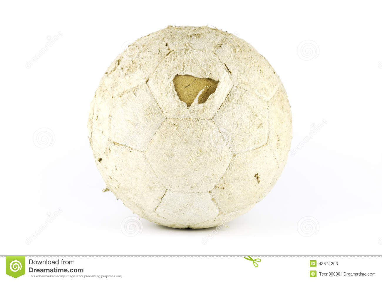 Old Soccer Ball Stock Image Image Of Pentagon Soccerball