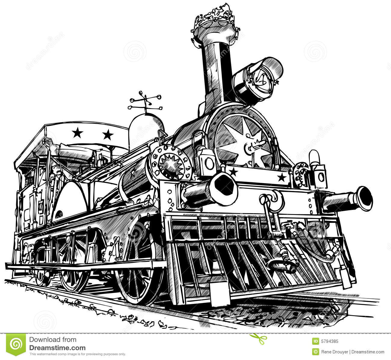 Old Steam Train Stock Vector Illustration Of Iron