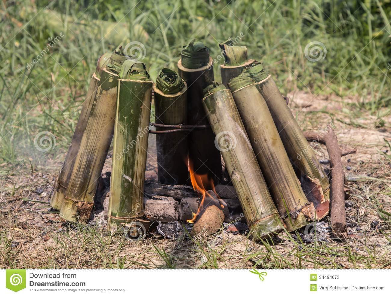 Old Style Campfire Cooking Stock Photography  Image