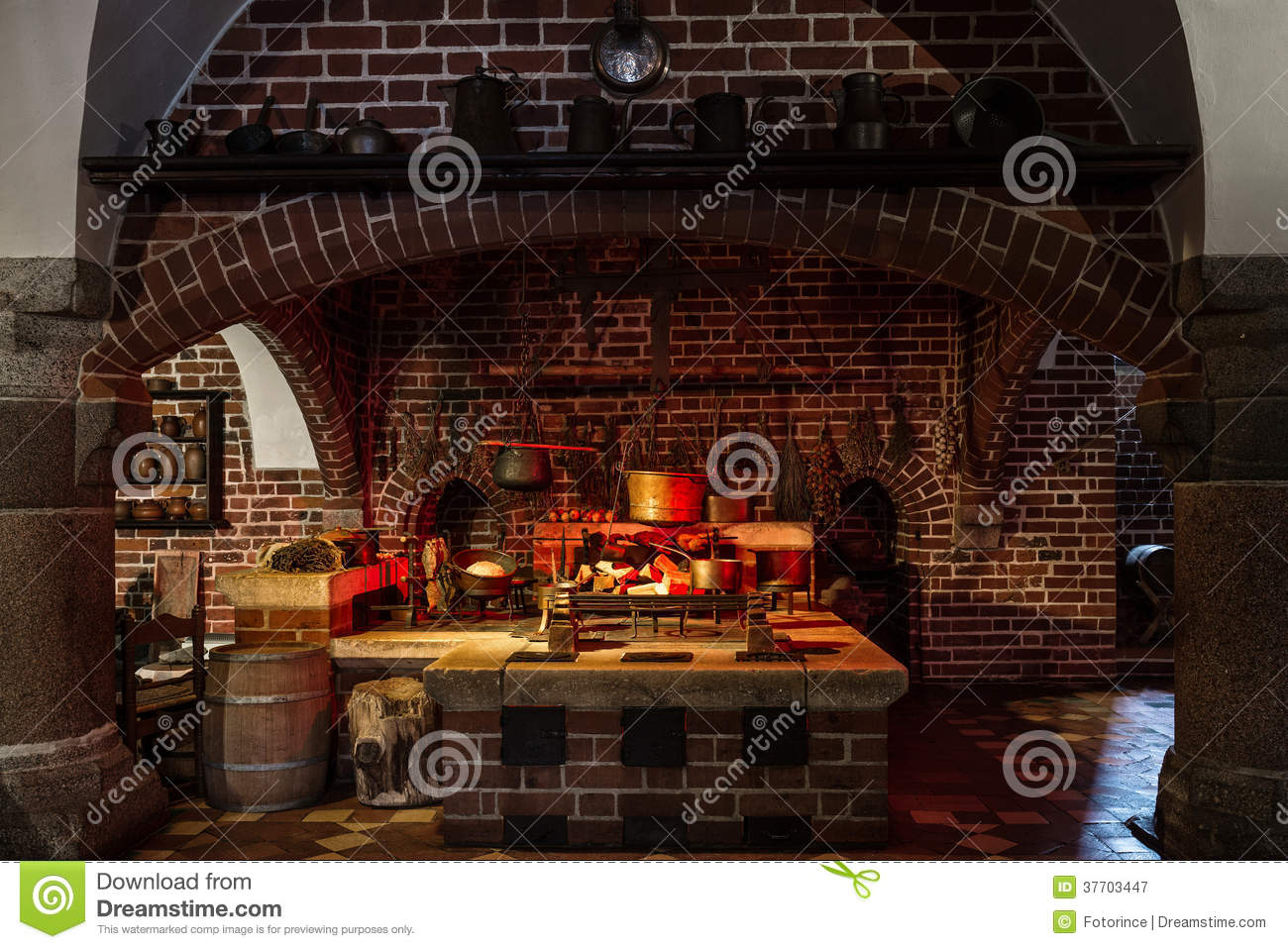 Old Style Kitchen Royalty Free Stock Photography Image