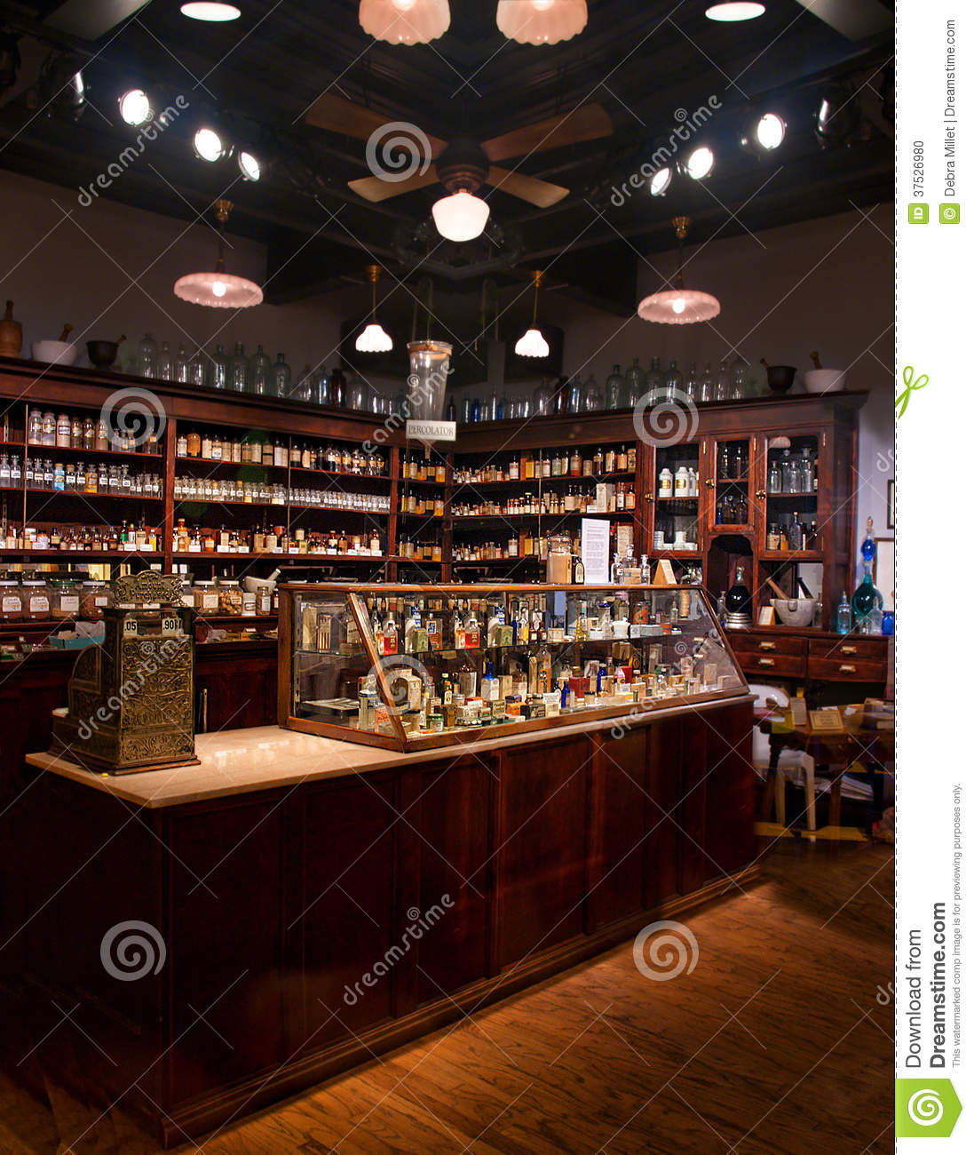 Old time pharmacy stock photo Image of care medicines