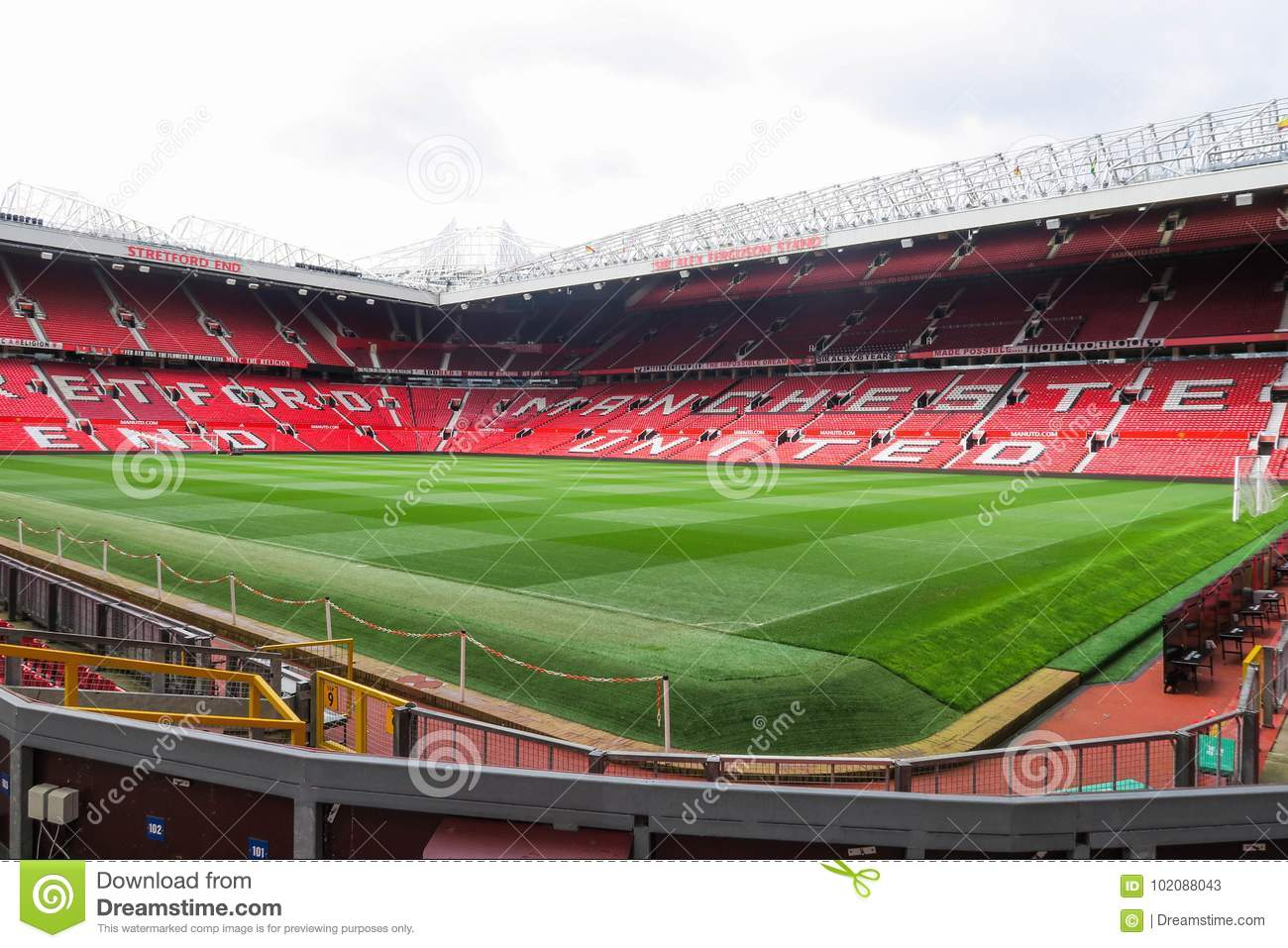 Old Trafford stadium. editorial stock photo. Image of manchester - 102088043