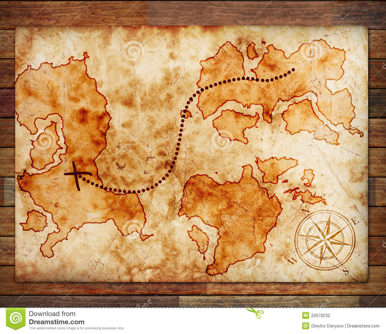 Old Treasure Map Stock Photo Image Of Grungy Letter