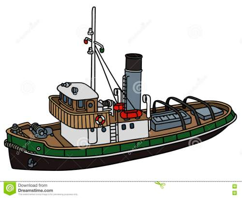 small resolution of old tugboat hand drawing of an old tugboat not a real type stock illustration