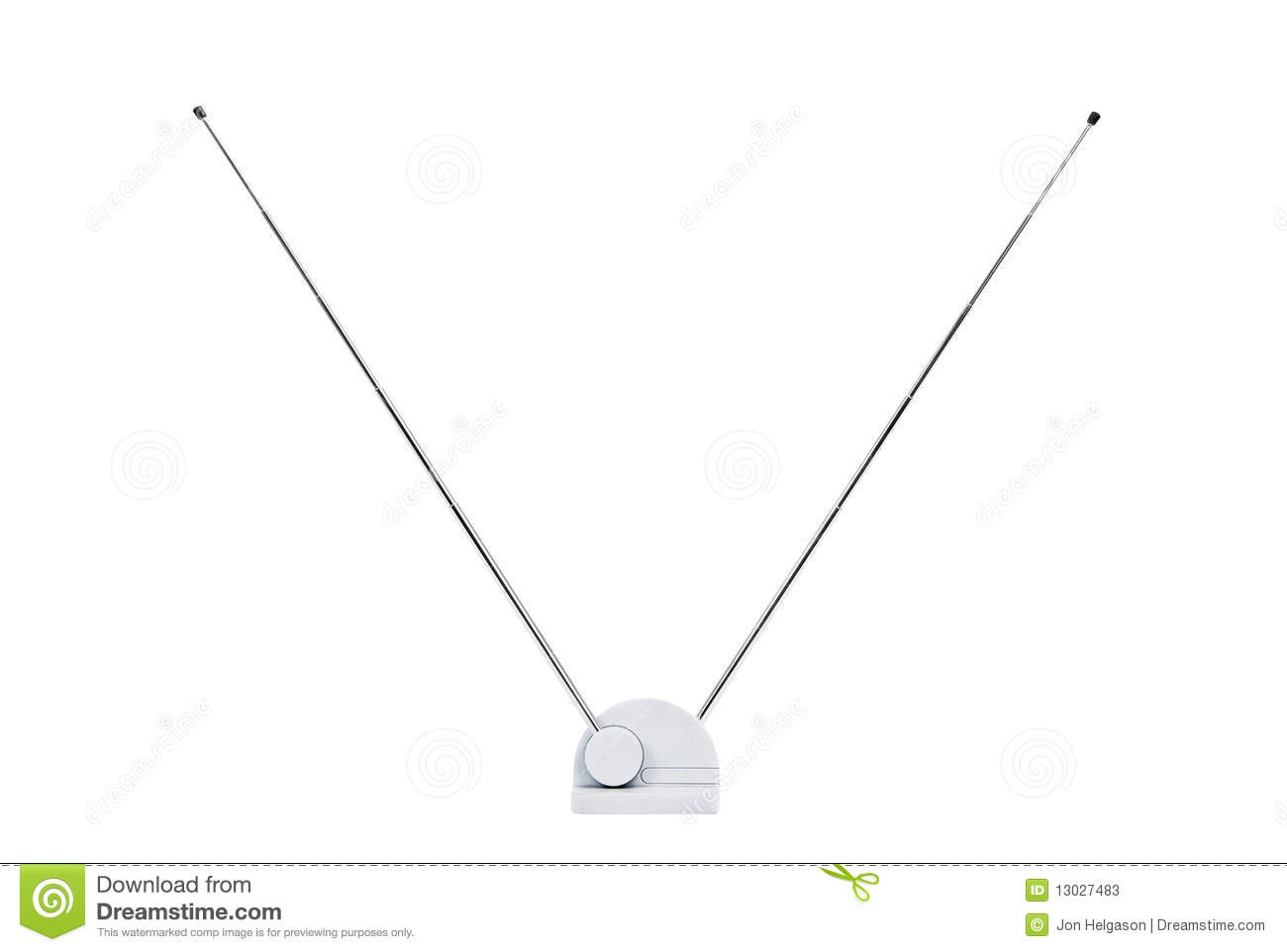 Old Tv Antenna Isolated Stock Photos
