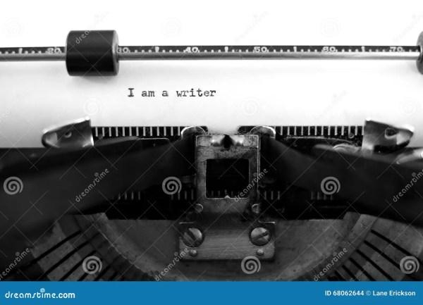 Typewriter With Paper Writer Stock