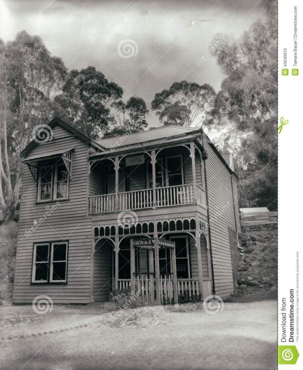 Victorian Home Editorial Of Gloomy
