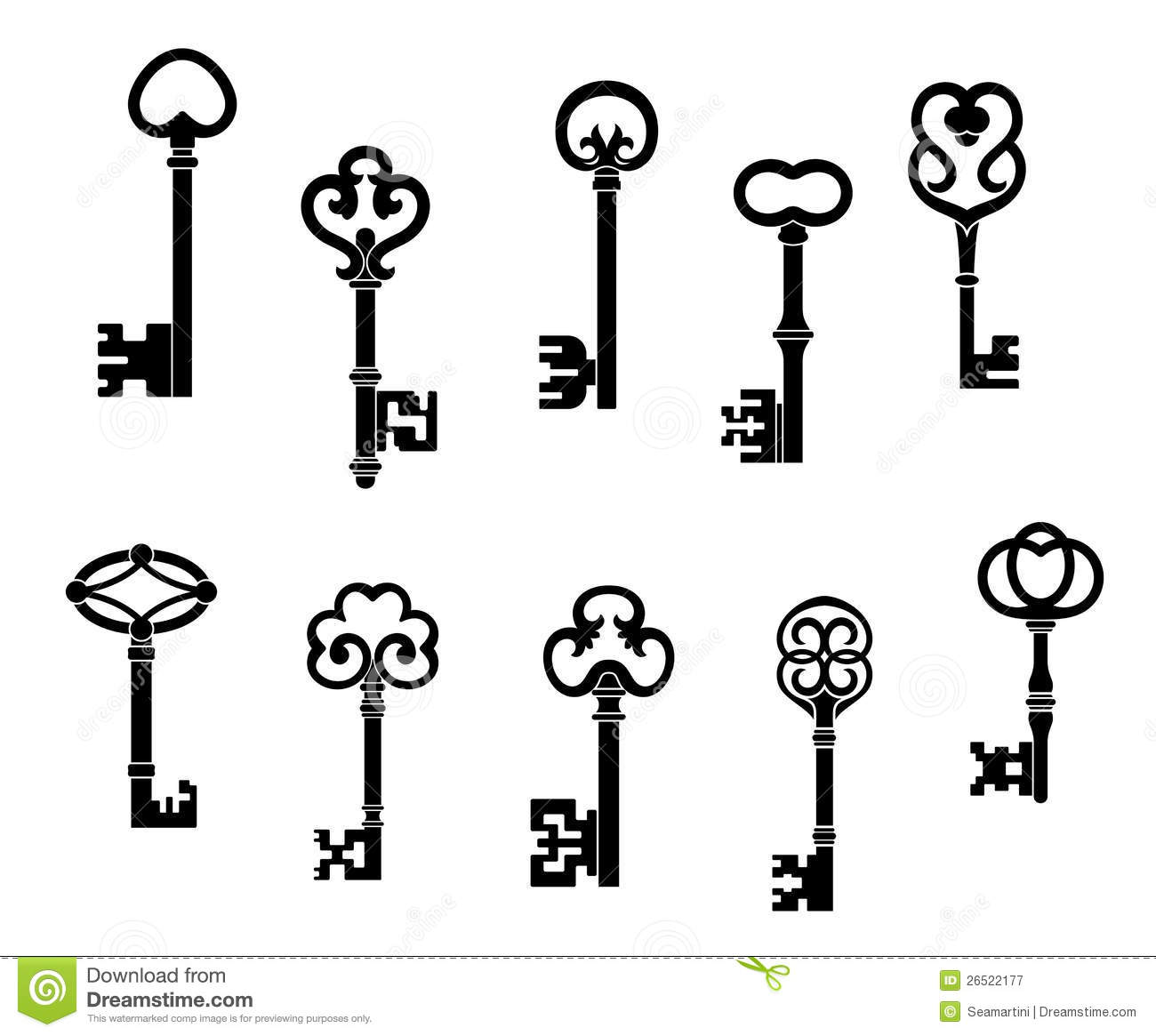 Old And Vintage Keys Stock Vector Image Of Chest Icon