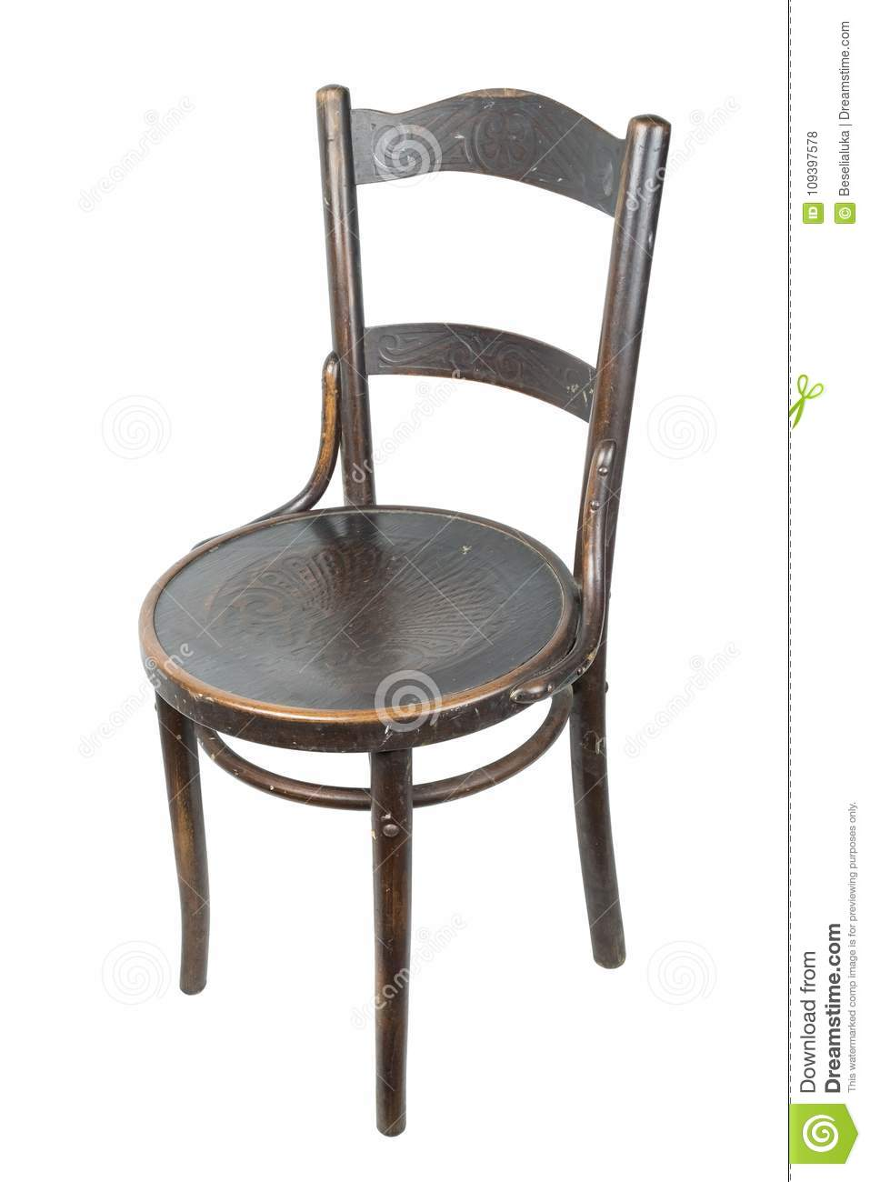 vintage wooden chairs plastic folding wholesale an old chair stock photo image of brown soiled on a white background isolated