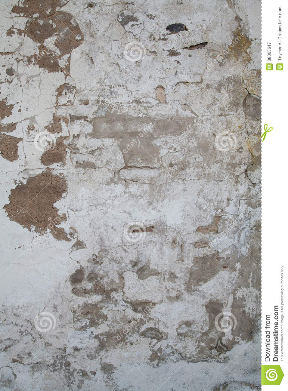 Old Wall With Paint And Clay Peeling Off Stock Image