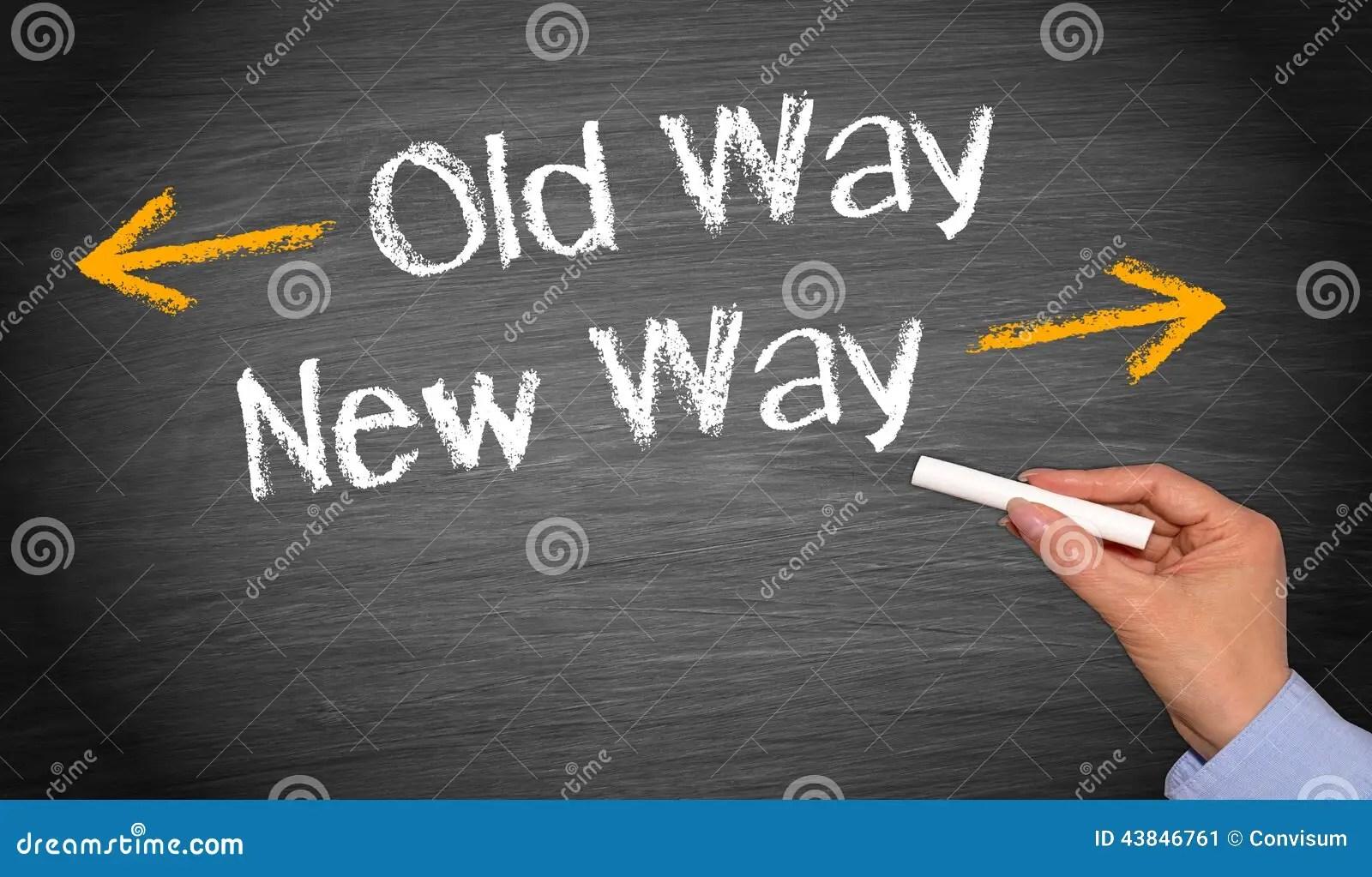 Old Way, New Way Stock Photo  Image 43846761
