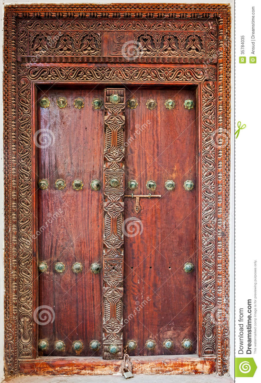 Old Weathered Door Of Building In Stone Town Zanzibar