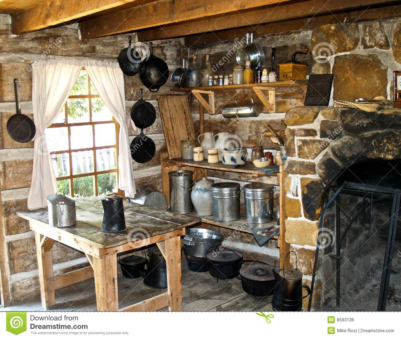 Old West Kitchen stock photo Image of warm cook style