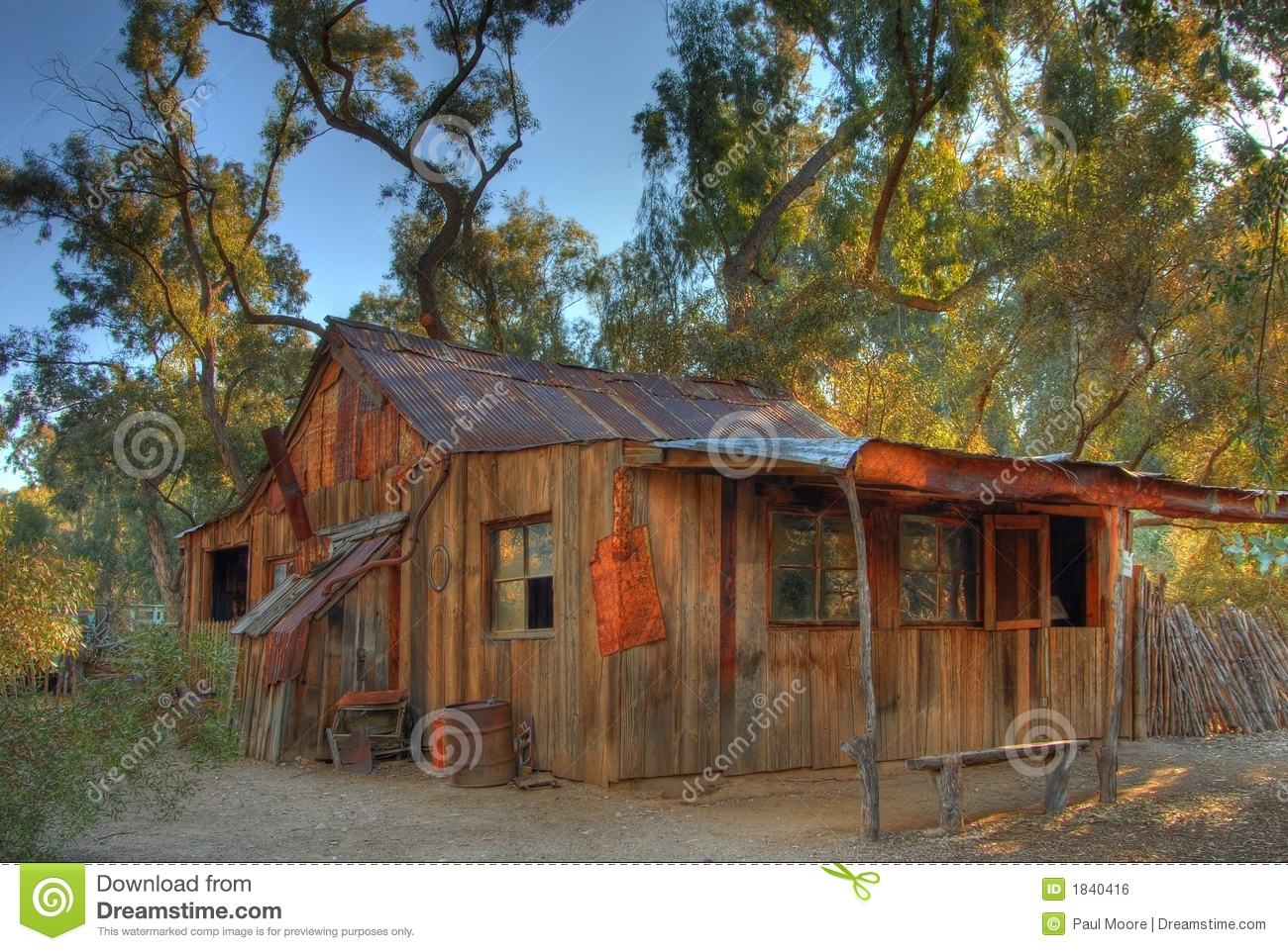 Old Western Cabin stock photo Image of ancient unnatural  1840416
