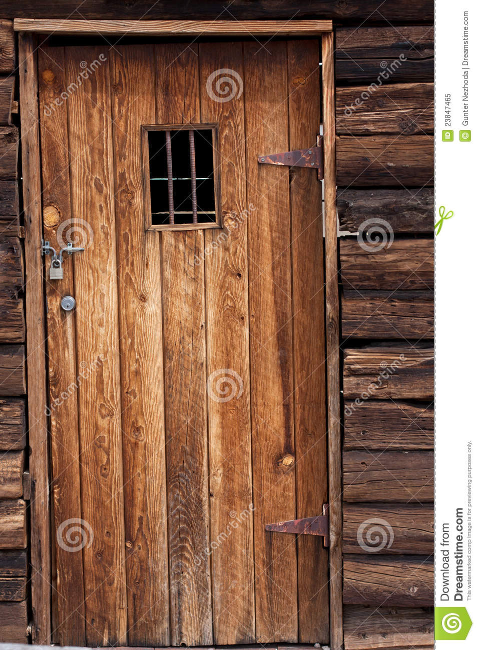 Old western jail door stock image Image of architecture  23847465