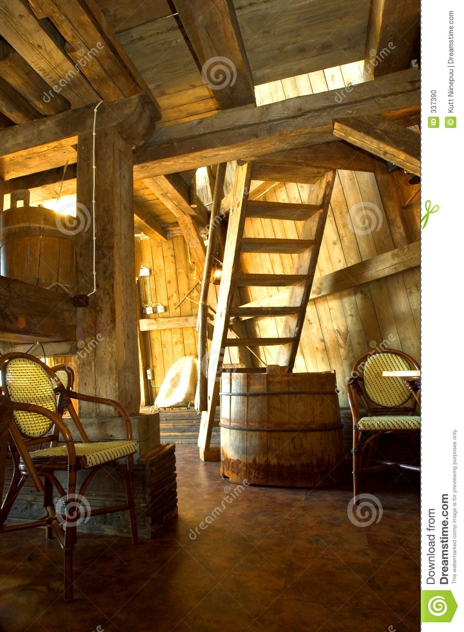 Old windmill interior stock photo Image of stairs background  337390
