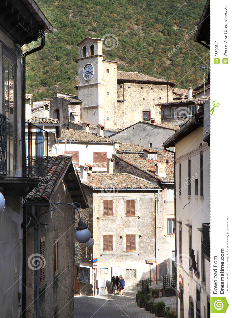 Old Women In Narrow Streets In Scanno Italy Editorial Image  Image 35590540